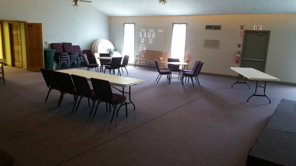 The Audition room is all set and ready to go in the Chapel of Marysville Christian Church!
