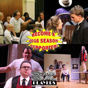 "Since 2013 we've brought you great shows like ""Twelve Angry Men"", ""Our Town"", ""The Odd Couple"" and ""Bus Stop"". Won't you consider helping us for our 2016 season as we help local non-profit organizations!"