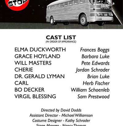 "Cast Announced for William Inge's ""Bus Stop"""