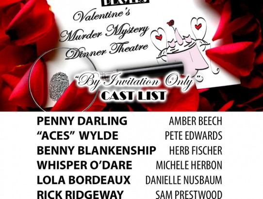 Valentine's Murder Mystery Dinner Theatre Cast Announced