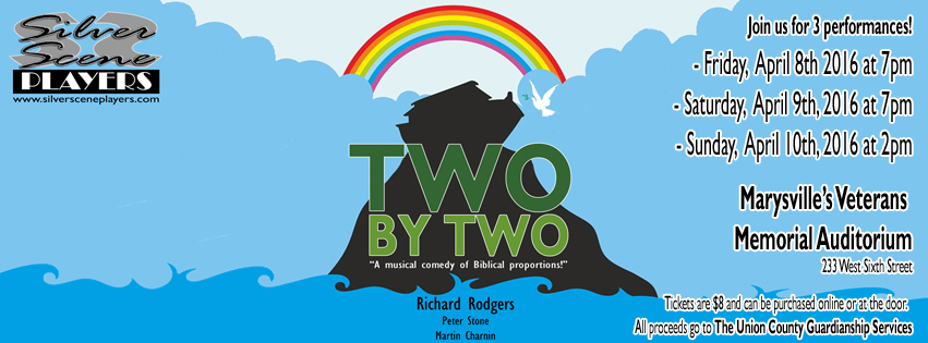 "Tickets are now on sale for the Richard Rodgers Musical Comedy ""Two By Two"" set to stage April 8th-10th!"