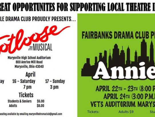 Two Great Opportunities for Supporting Local Theatre!