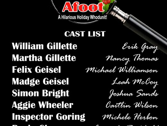 """The Game's Afoot!"" Cast Announced"