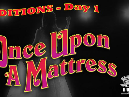 "TONIGHT!  Day 1 of Auditions for ""Once Upon A Mattress"""
