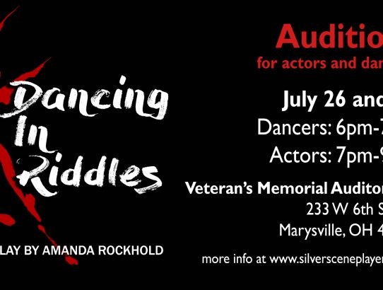 "Auditions for ""Dancing in Riddles"" set for July 26 and 30!"