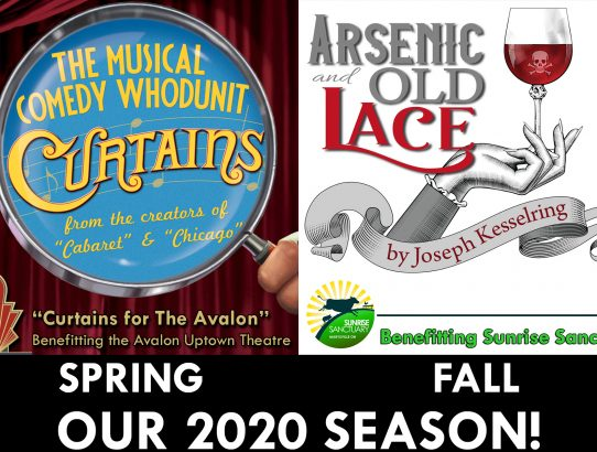 "2020 Season Announced - Auditions for the comedy musical whodunit ""Curtains!"" December 9 & 10"